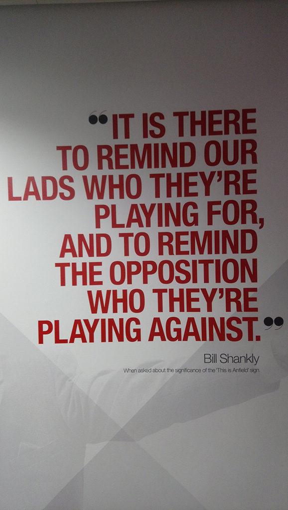 Een uitspraak van Bill Shankly