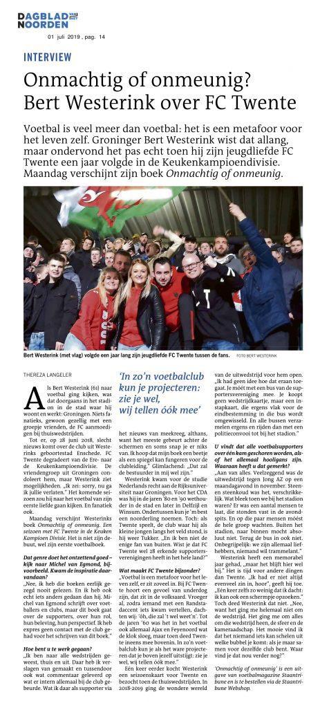 Veel media-aandacht voor FC Twente boek